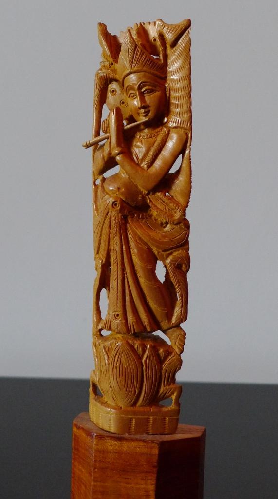 Статуэтка, сандал, Кришна