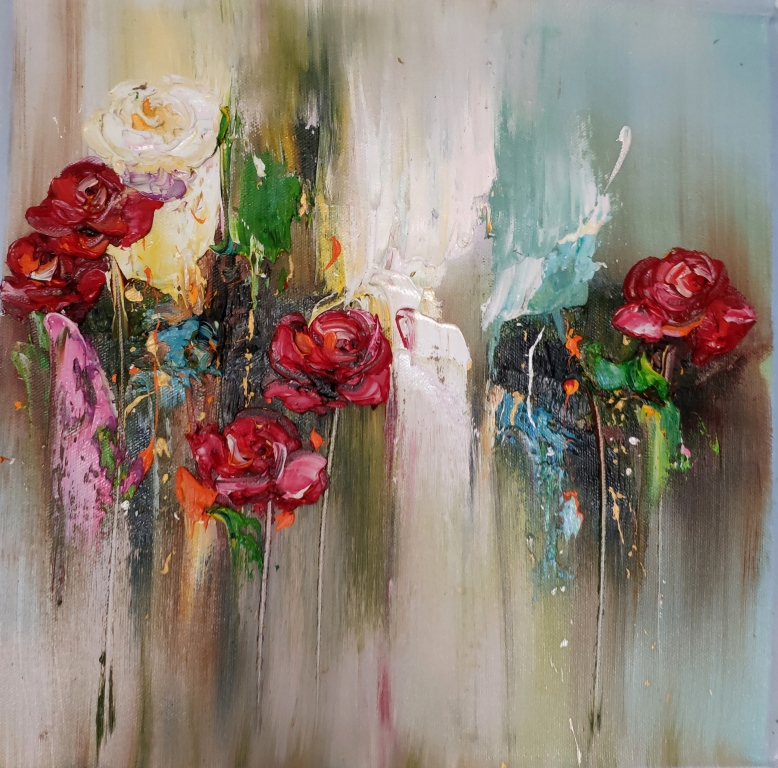 Картина триптих Цветы