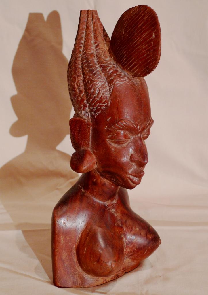 Бюст, красное дерево, Африка, Мали