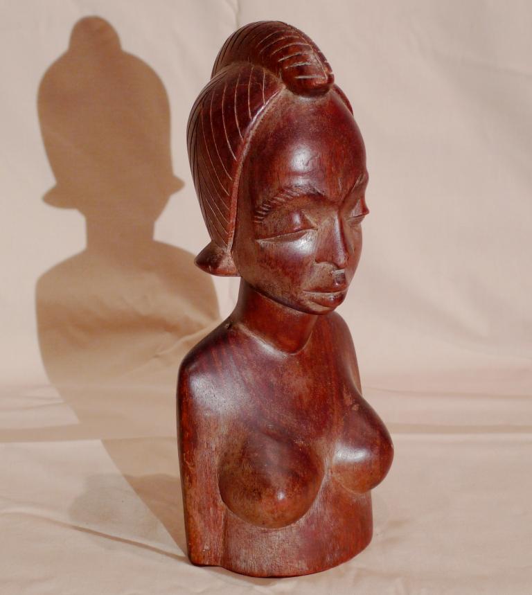 Бюст, красное дерево, Африка, винтаж