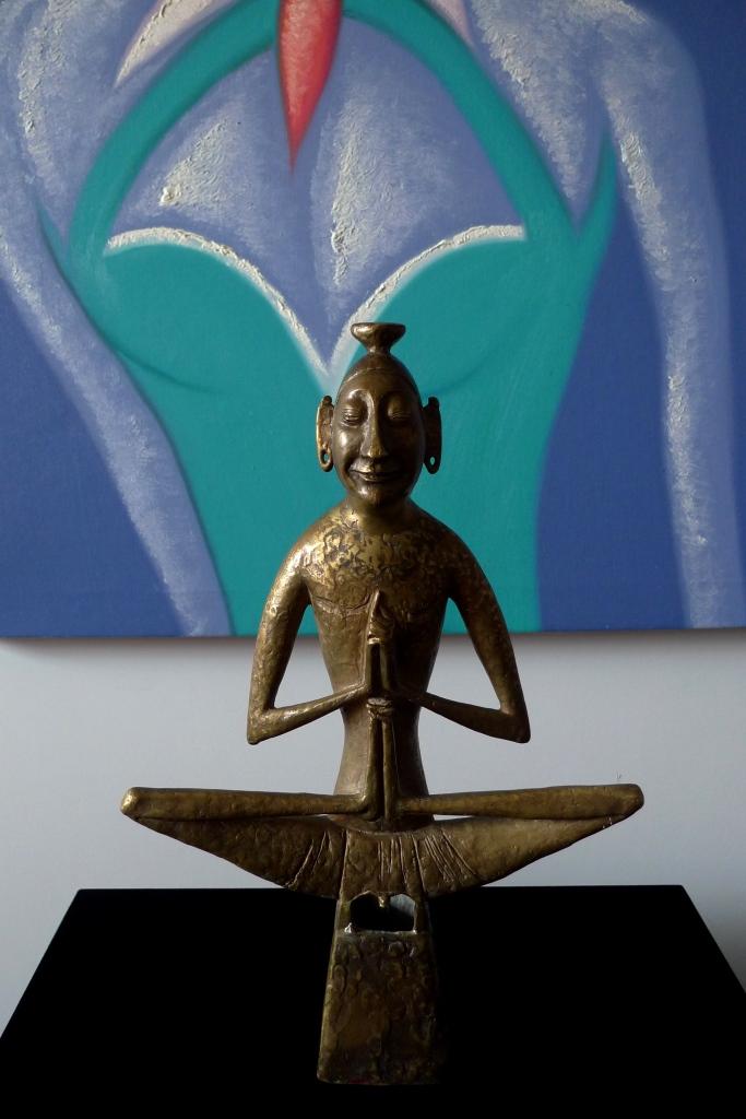 Скульптура, статуэтка, Будда, бронза, СССР