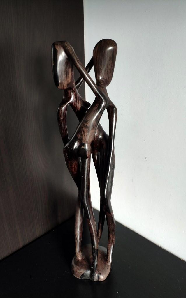 Скульптура, пара, черное дерево
