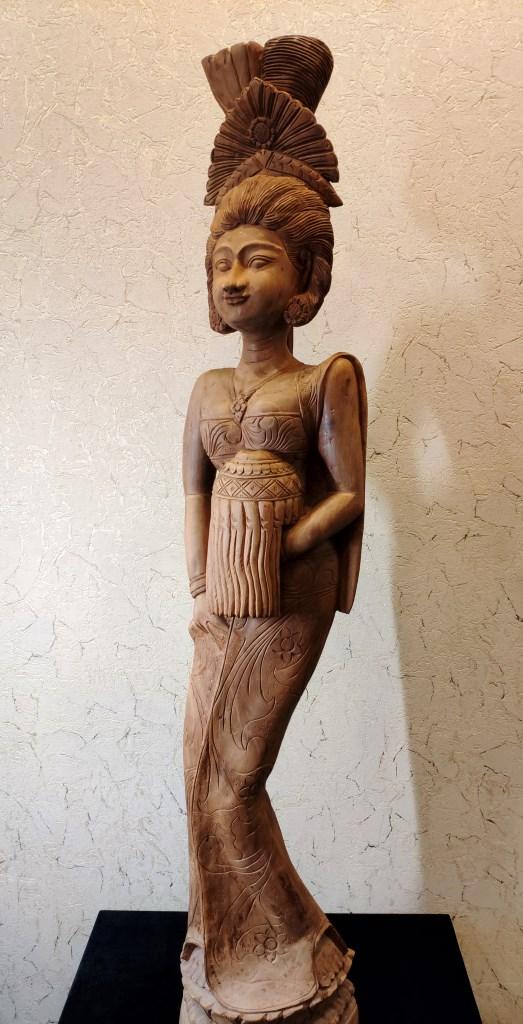 Статуя, Камбоджа, вишневое дерево