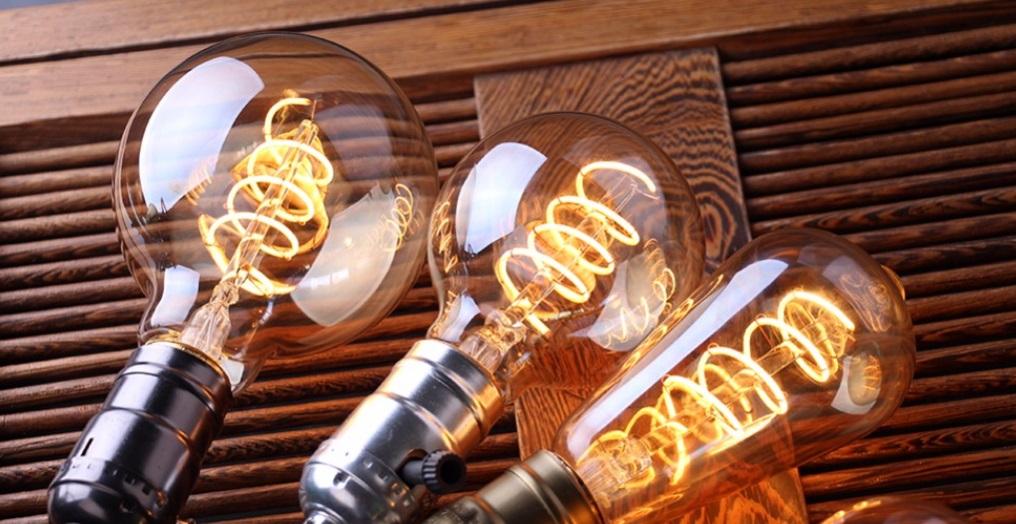 Филаментная, ретро, LED лампа, стиль G80 gold