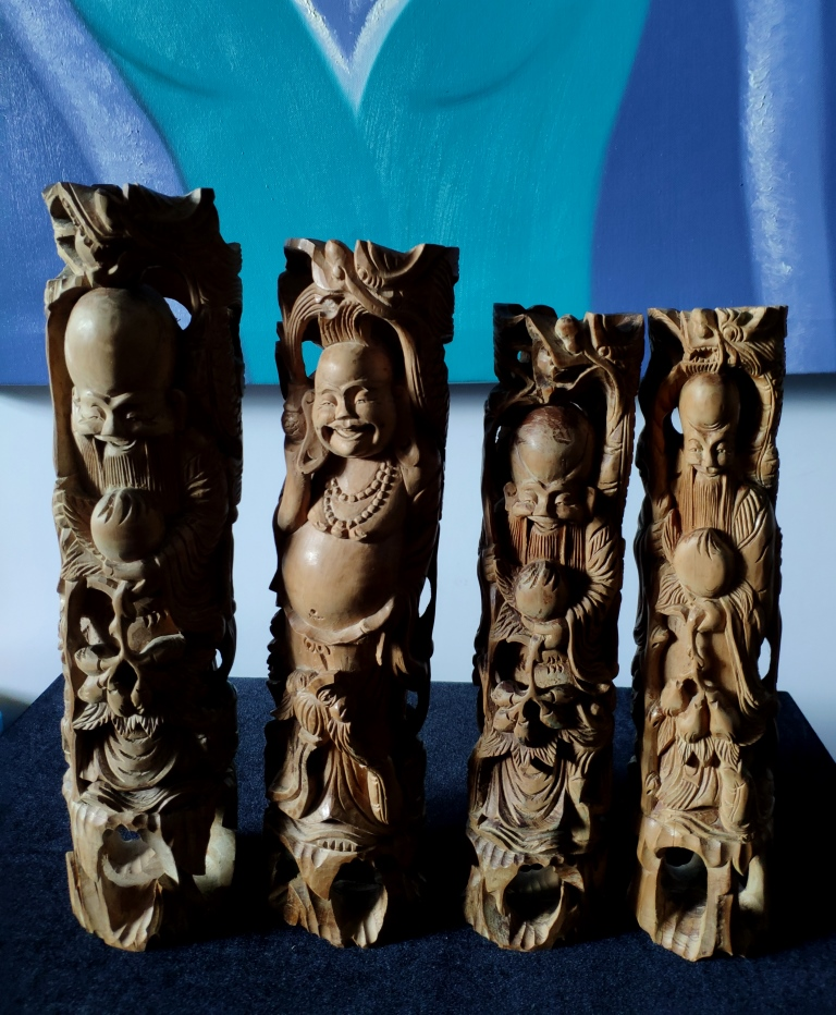 Статуэтка, старец, сандал, Вьетнам