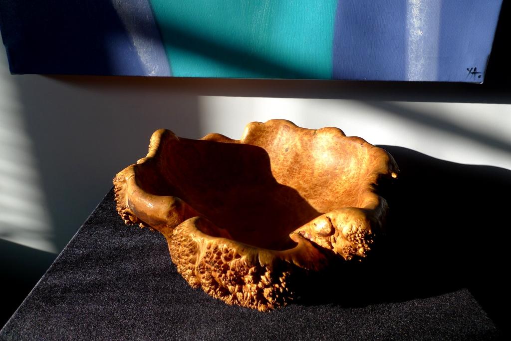 Большая ваза из натурального капа