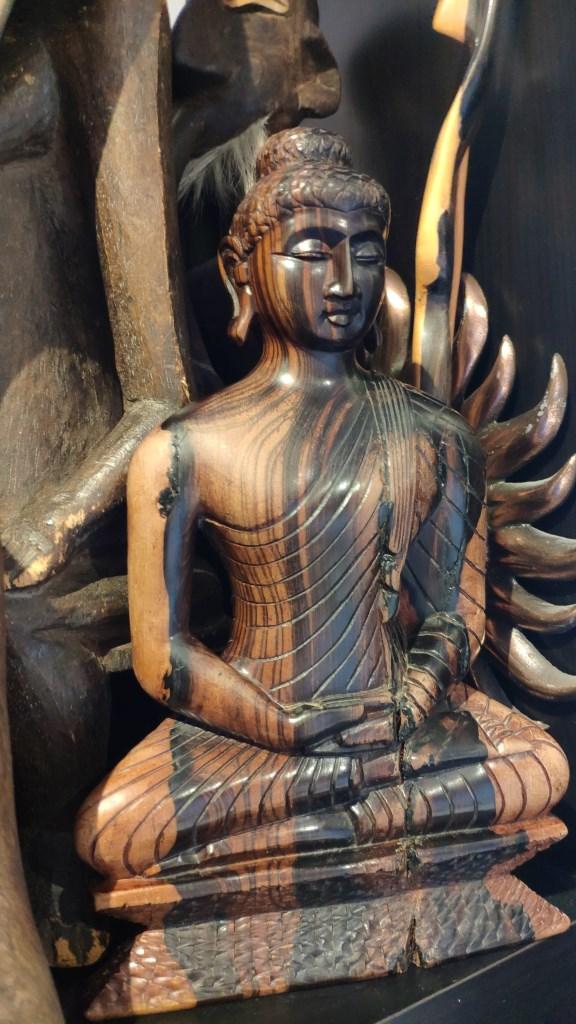 Статуэтка Будды, черное дерево, Шри-Ланка