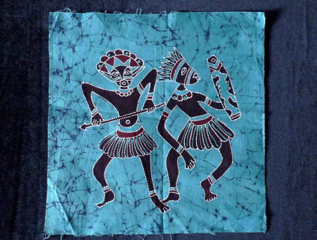 Батик, авторская роспись по ткани, о. Ява