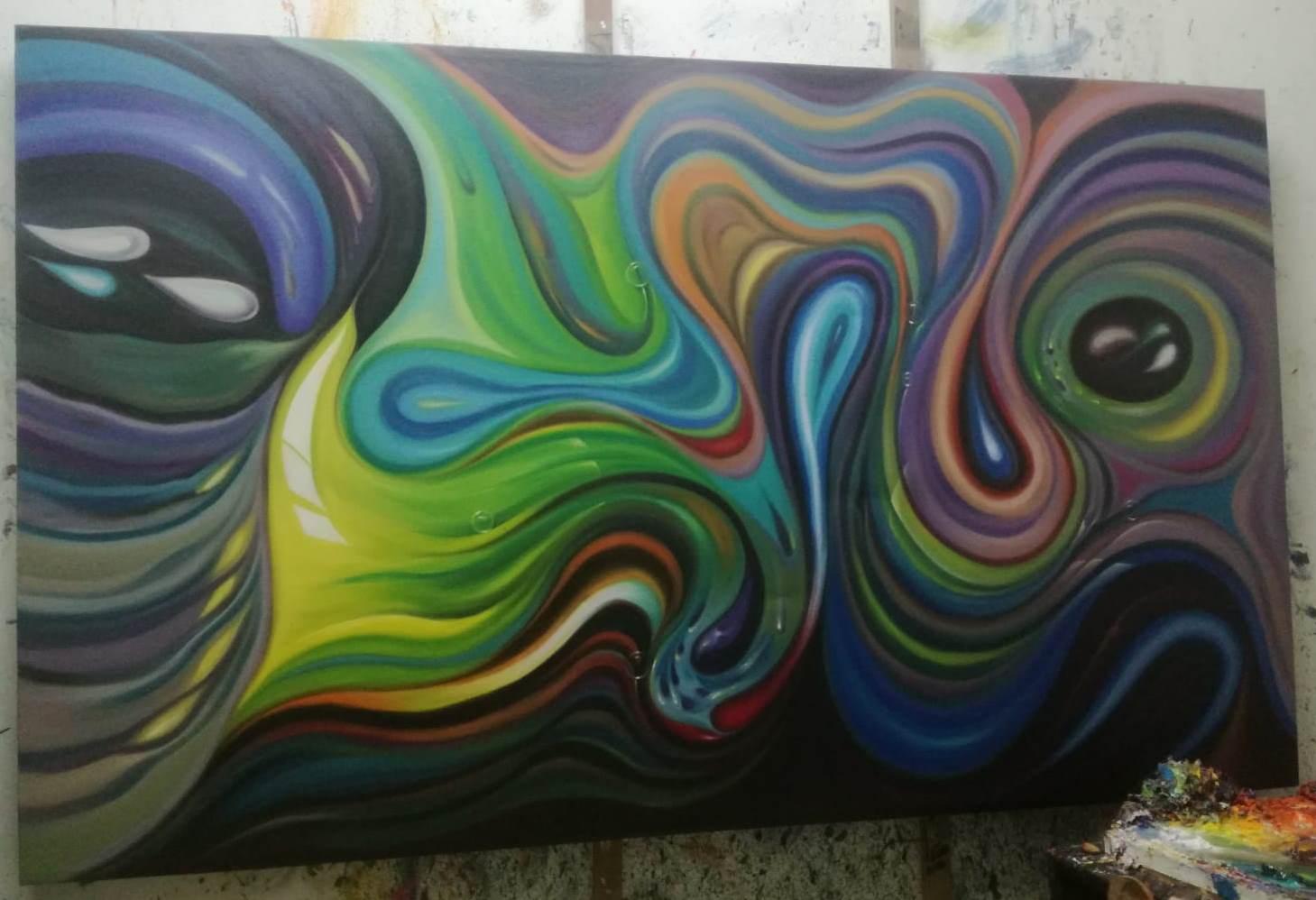 Картина, абстракция, большой размер