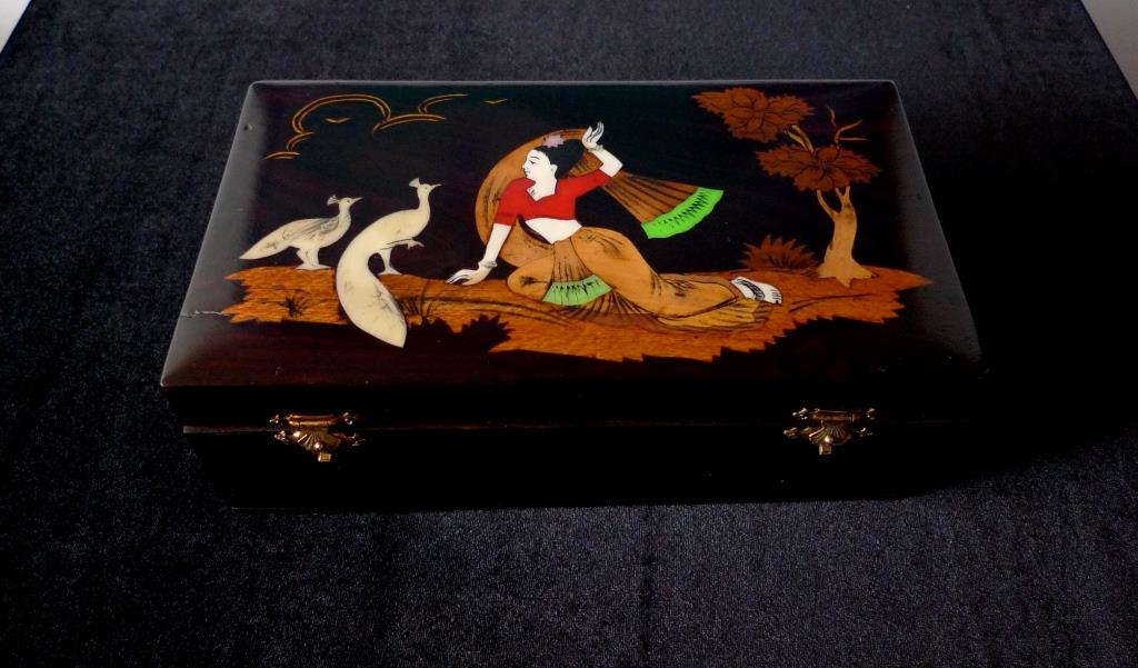 Антикварная коллекционная шкатулка, Индия