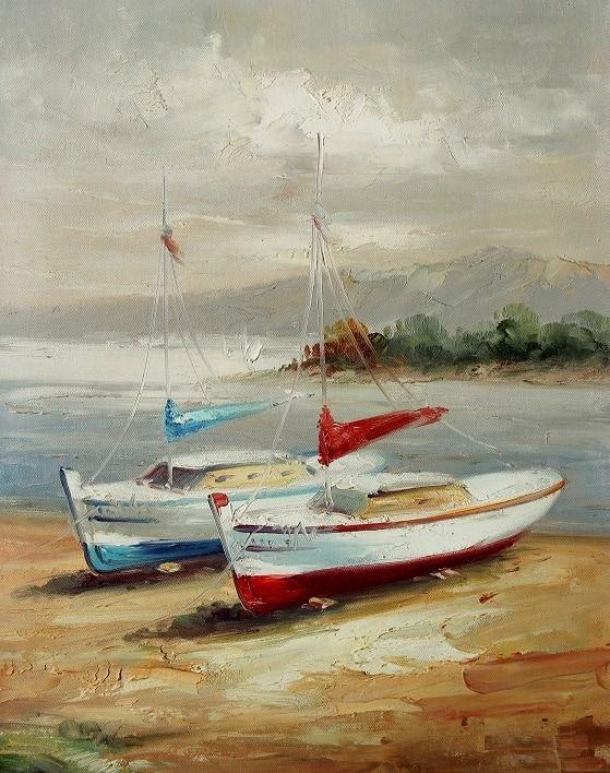 Картина «Яхты на берегу»