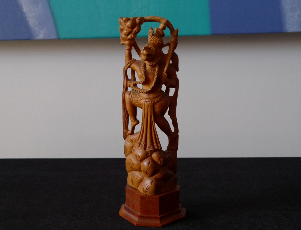 Скульптура, Хануман, белый сандал, антиквариат